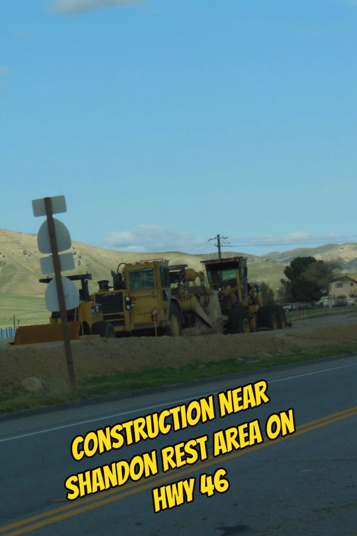 Construction Near Shandon Rest Area on Highway 46