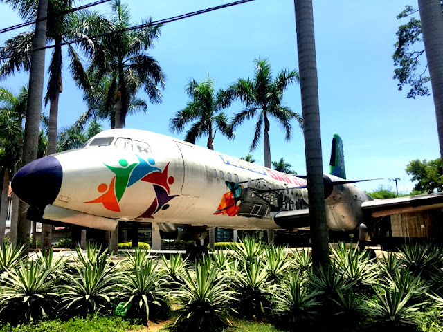 Ilocos Sur. This Airplane Cafe in front of San Ildefonso is of Ilocos Sur Tourist Spots. This is in front of San Ildefonso Municipal Hall