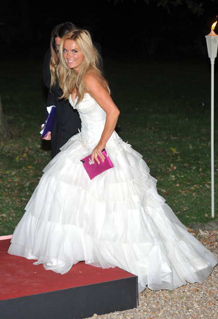 Geri Helliwell In Big Wedding Dress At Raisa Gorbachev