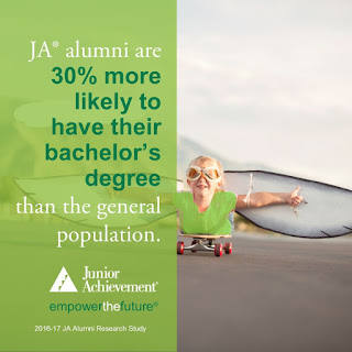 JA alumni are 30% more likely to have their bachelor's degree than the general population.