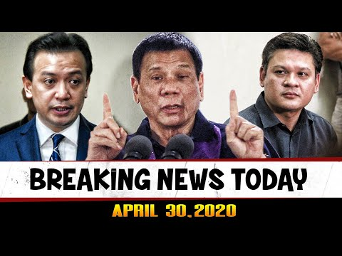 BREAKING NEWS TODAY APRIL 30, 2020 PRES DUTERTE l FRANCIS LEO MARCOS l PAULO DUTERTE l TRILLANES