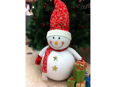 snow themed christmas decorations