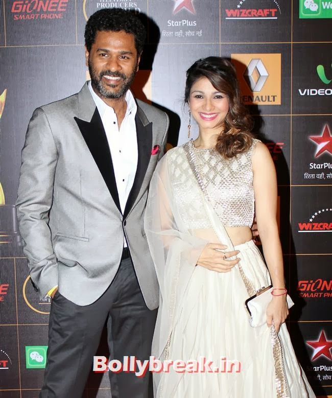 Prabhu Deva and Tanisha Mukherjee, Star Guild Awards 2014 Pics