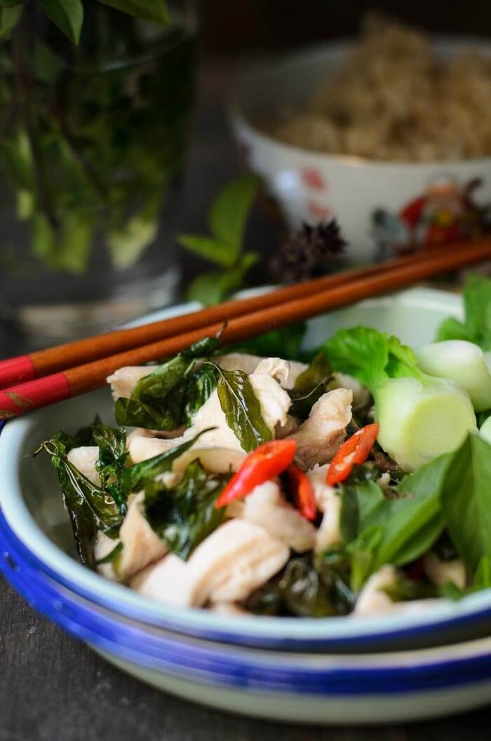 Chicken Thai Basil Stir-fry is excellent  for the busy mid-week quick dinner.