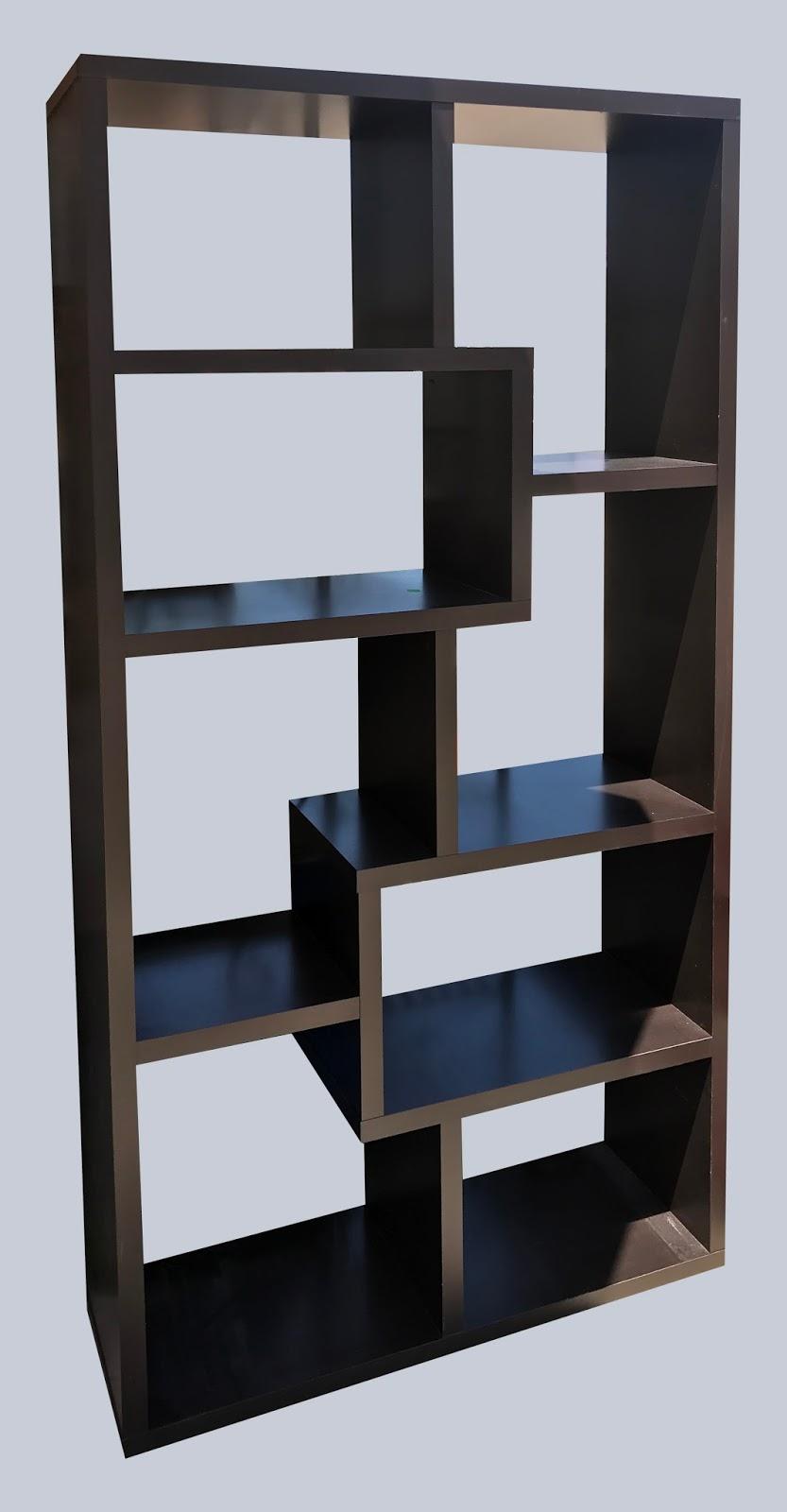 Uhuru Furniture Collectibles Open Back Abstract Shelf