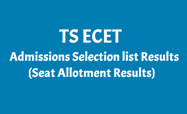 TS ECET Seat Allotment Results