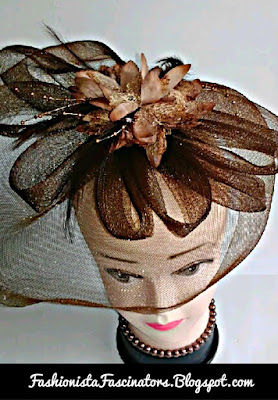 Brown wedding fascinators in Kenya
