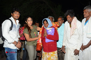 Actress Sri reddy (apthatrust director) Distrubuted Blankets for Orphans at Sai Baba Temple  0056.JPG