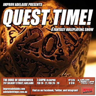 adelaide fringe: quest time! by improv adelaide