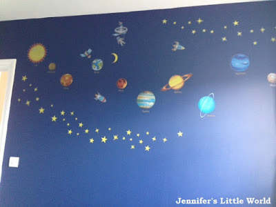 Making a space themed bedroom for a child
