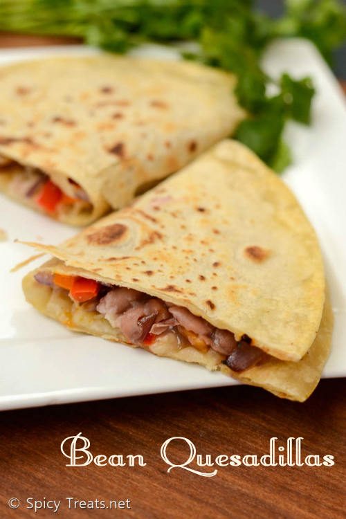 Red Bean Quesadillas
