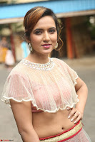 Aafia Bhardwaj looks stunning in transparent pink small choli chunni ghargra at launch of India Silk Expo ~ Exclusive Celebrity Galleries 142.JPG