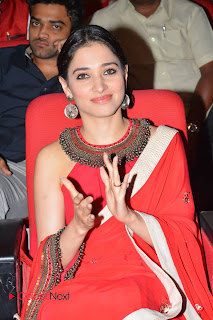 Tamannaah in Red Saree with lace border at Oopiri Thanks Meet