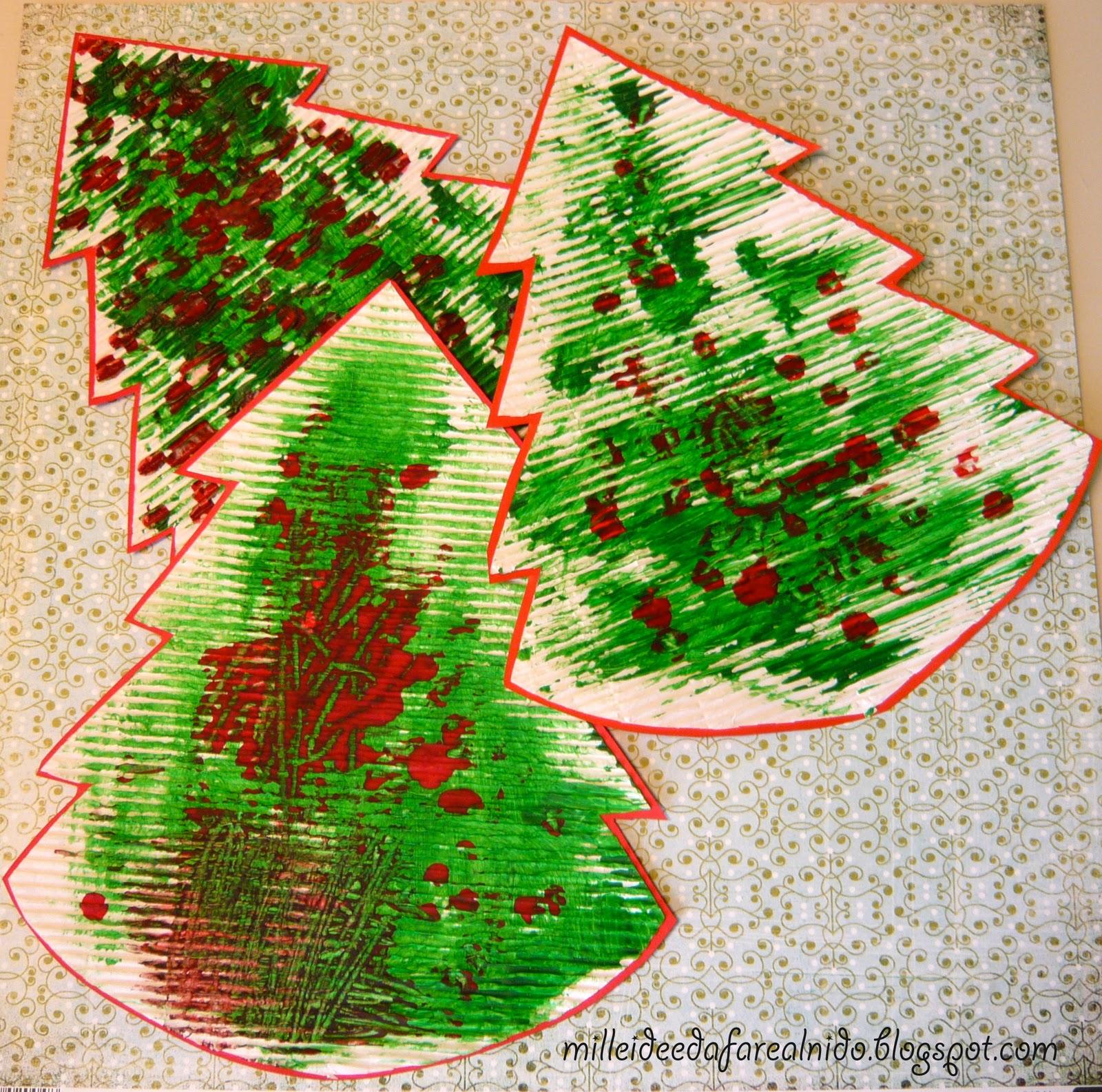 abbastanza Mille idee al nido: Alberelli colorati YL83