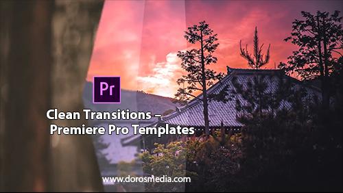 قوالب بريمير انتقالات بريمير قوالب انتقالات مميزة للادوبي بريمير  Clean Transitions – Premiere Pro Templates