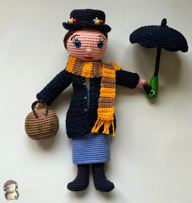 Mary Poppins amigurumi