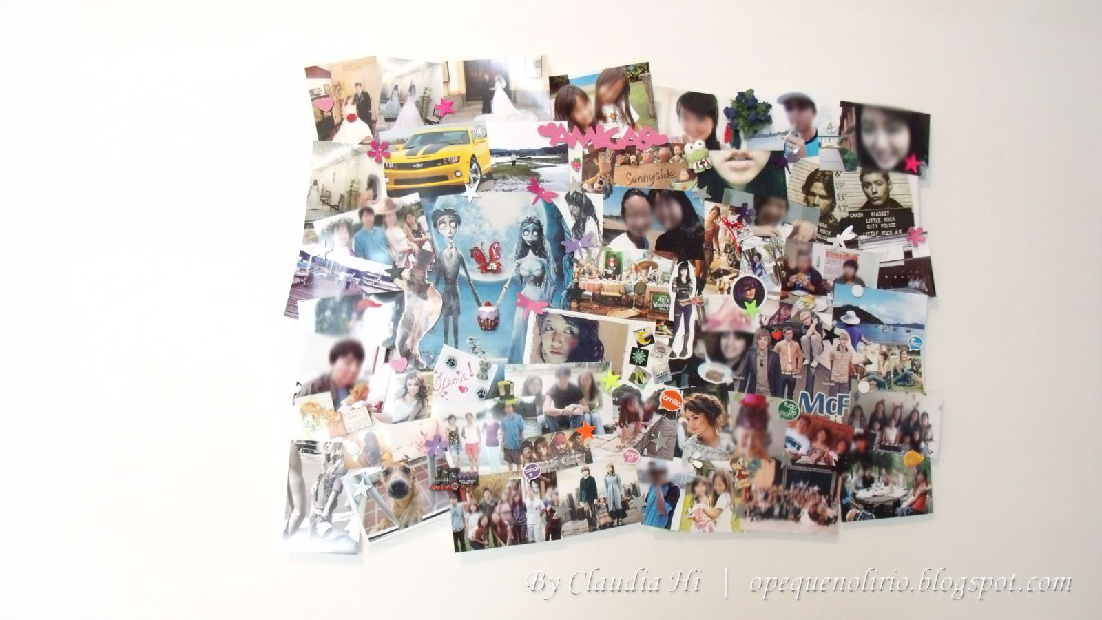 mural de menina, board, fotos, imãs