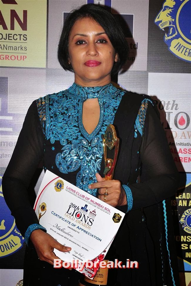 Madhushree, Celebs at Lions Gold Awards 2014
