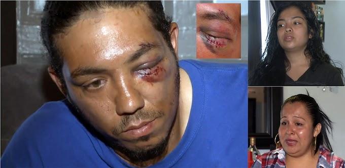 Horda de estudiantes golpea brutalmente a un dominicano, su hijastra y esposa