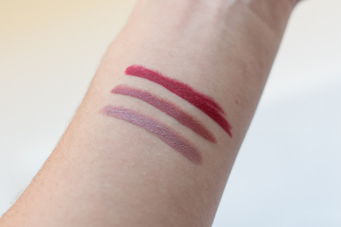 bite beauty matte creme lip crayons cava glace red velvet swatches