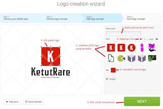 merubah type logo icon