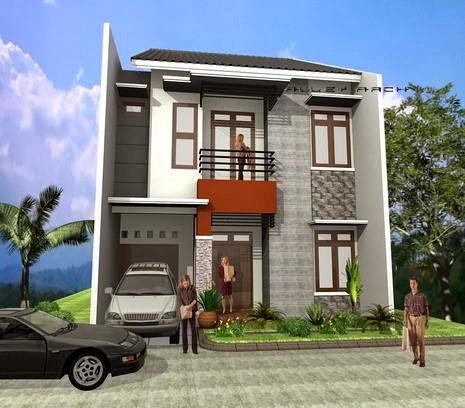 model rumah tingkat sederhana 3