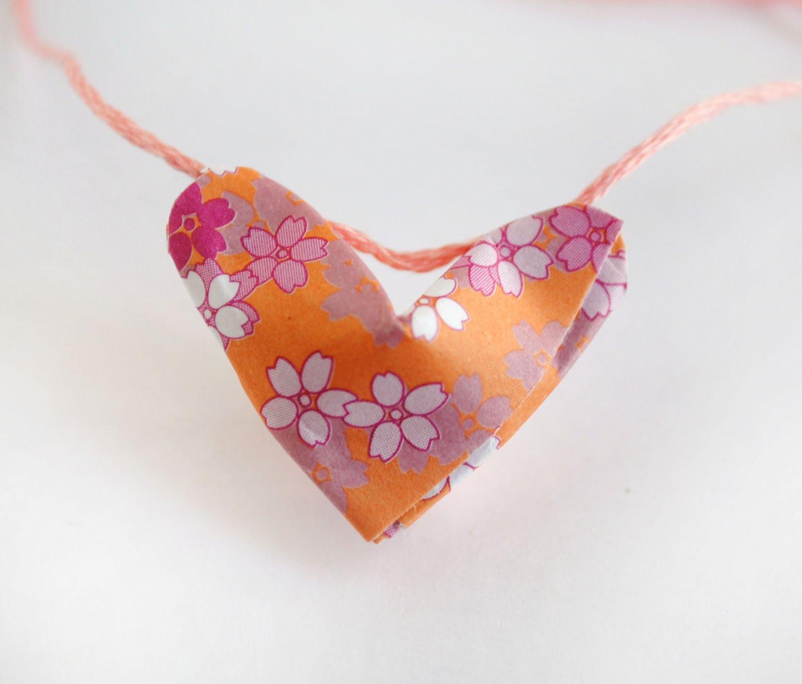 zakka life: Origami Lucky Hearts - photo#2