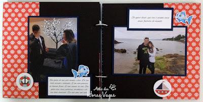 álbum mini album scrap scrapbook scrapbooking fotos decorado casal namorados aniversário de namoro momentos especiais presente amor fundo do mar craft paper crafting diy pretty memories memórias