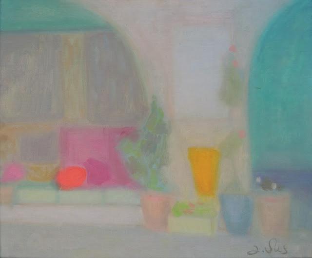 obra de arte impresionista flores pintor aragonés Jesús Sus