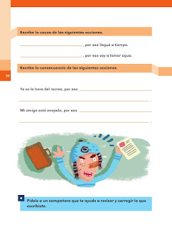 Apoyo Primaria Español 2do grado Bloque 2 lección 2 Causas y consecuencias