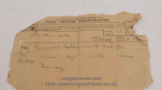 Surat Terakhir dari 'Dasar Lautan' Awak Kapal Titanic