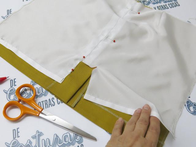 tutorial técnica de costura forrado faldas