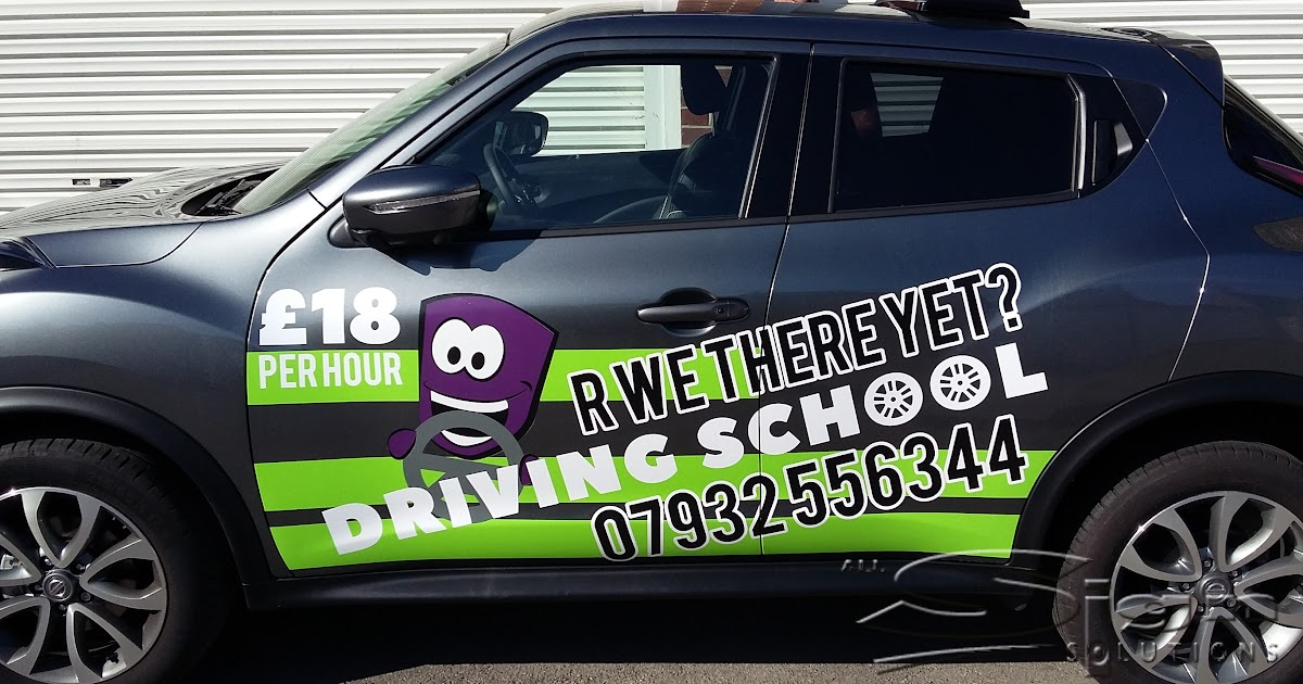R We There Yet Driving School Car Livery All Sign