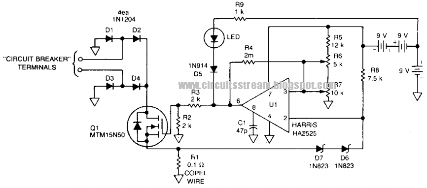 Super Circuit Diagram Build A Fast Breaker Circuit Diagram