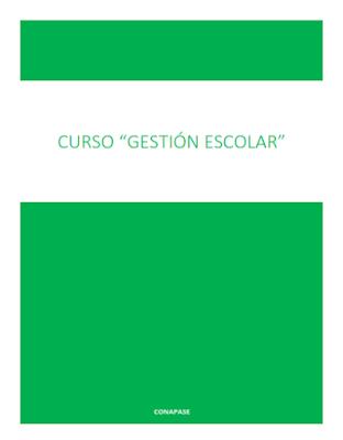 Curso de Gestión escolar - CONAPASE