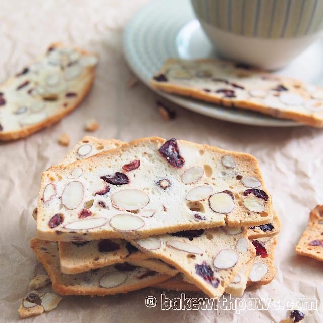 Almond Hazelnut Cranberry Biscotti