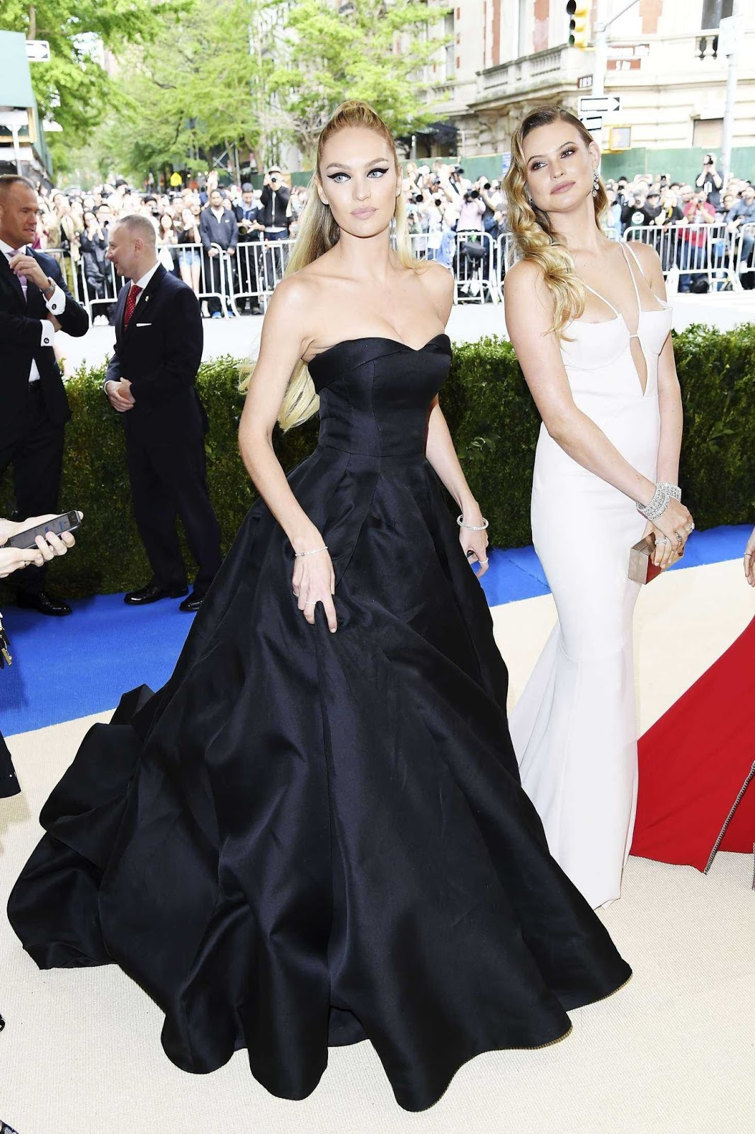 New Moms Behati Prinsloo & Candice Swanepoel Arrive at the Met Gala