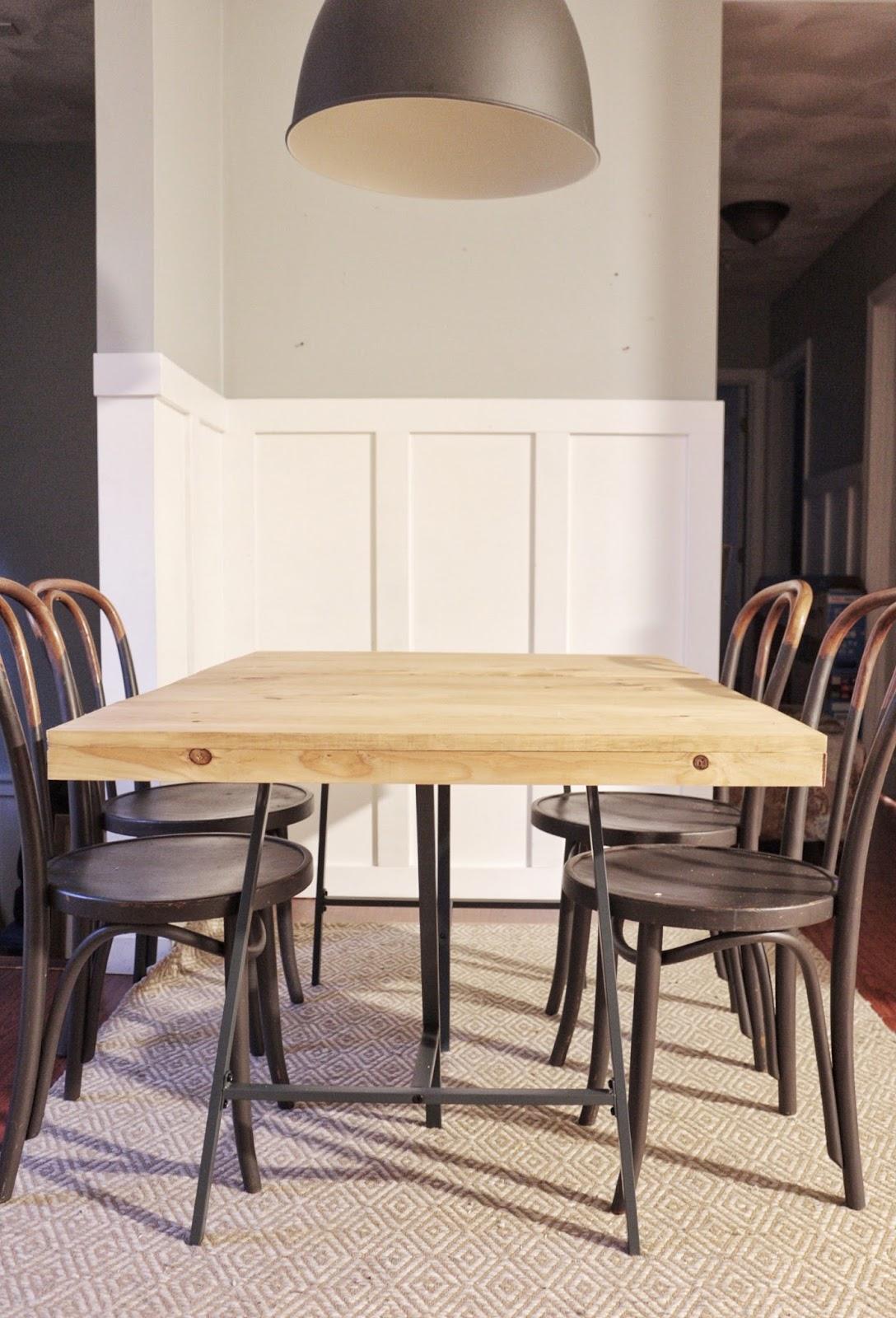 Diy Dining Table Ikea Lerberg Made By Carli