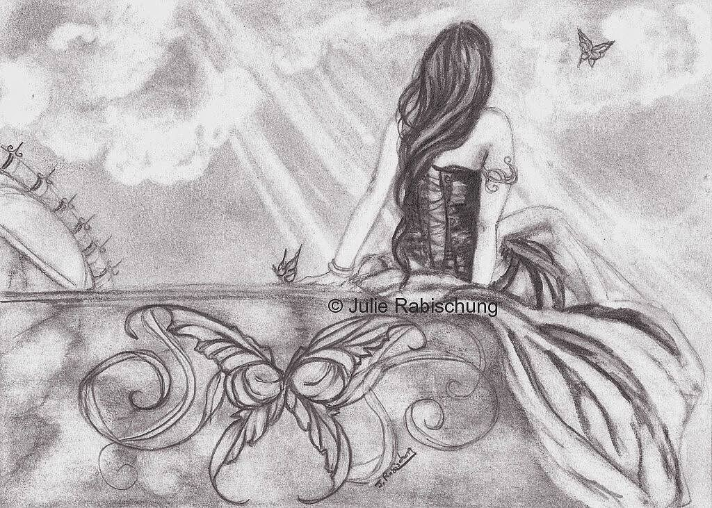 Wish I Had Wings by Enchanted Visions Artist, Julie Rabischung