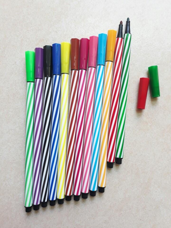 Bình bút lông Hàn Quốc 12 màu 12 cây No.050