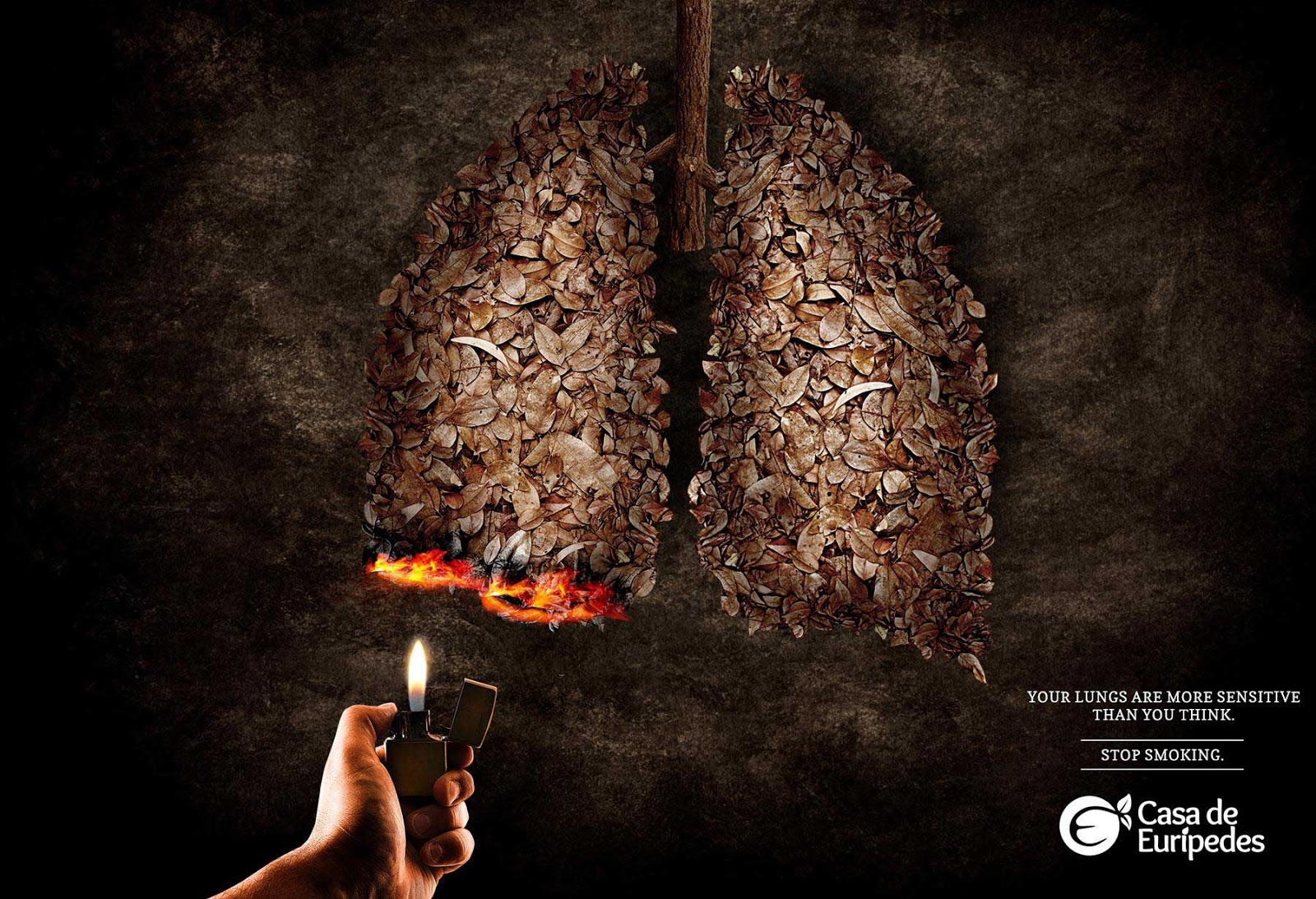 contoh desain gambar poster anti merokok kesehatan kampanye bagus keren efektif menarik headline judul iklan layanan masyarakat public service advertisement psa ilm arti makna simbol lambang tagline copywriting kreatif