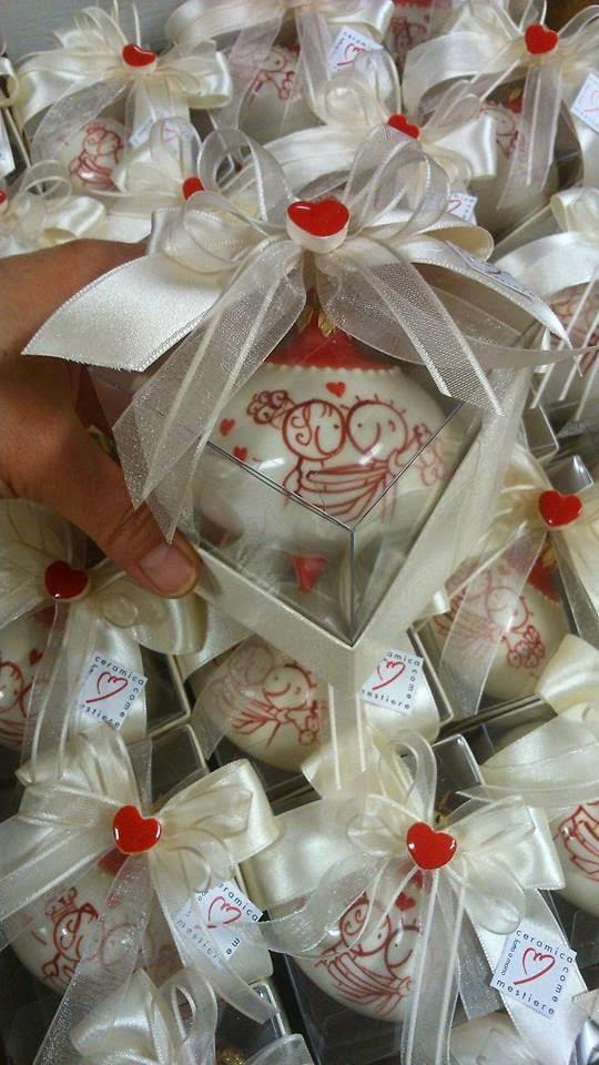 Favoloso ceramica come mestiere: Bomboniere per matrimonio natalizio  ZG47