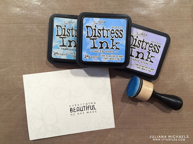 Dual Embossing and Distress Inking Card Tutorial by Juliana Michaels featuring Bella Blvd Illustrated Faith Fly Free Stamp Set and Ranger Distress Inks