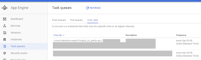 Cron-job inside task queue section