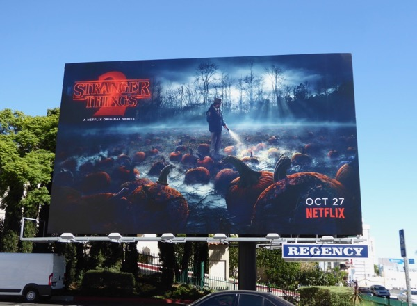 Stranger Things 2 pumpkin patch billboard