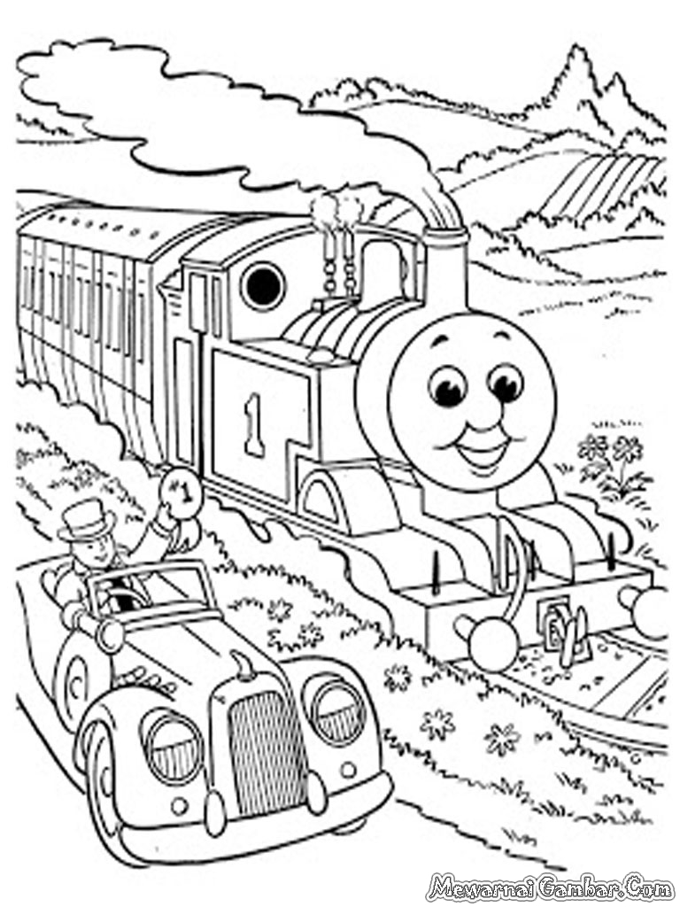 Aneka Gambar Mewarnai Thomas And Friends