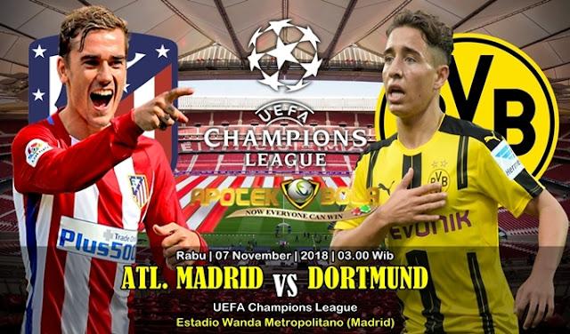 Prediksi Atl. Madrid Vs Dortmund 07 November 2018