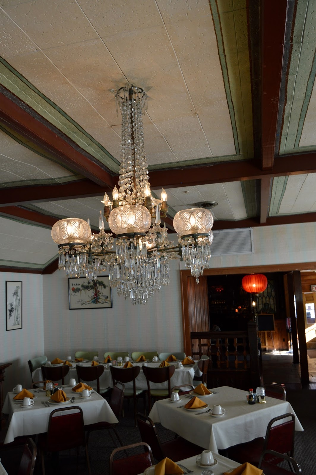 A twist in history november 2016 the chandeliers now hang in the dining room of the china palace restaurant photo by jessi larue arubaitofo Gallery