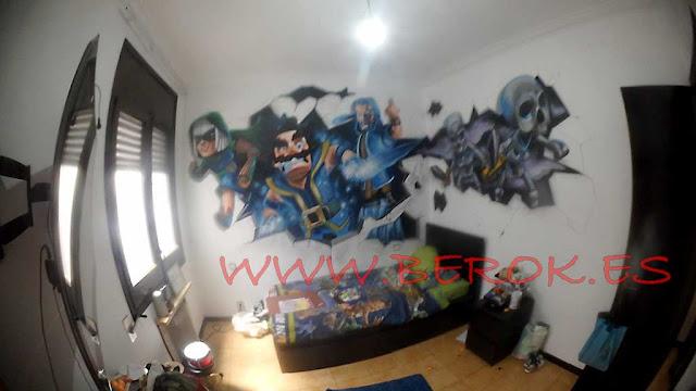 mural habitación clash royale
