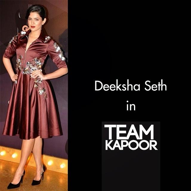 the stunning deeksha seth wearing dhruv kapoor for the @gqindia awards looking nothing short of fabulous!  styled by : @sanjanabatra, Deeksha Seth Latest Hot Pics